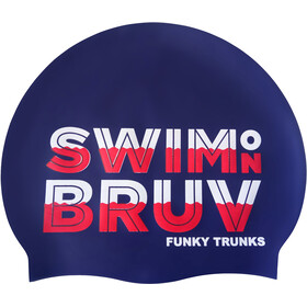 Funky Trunks Silicone Gorro de natación, swim on bruv
